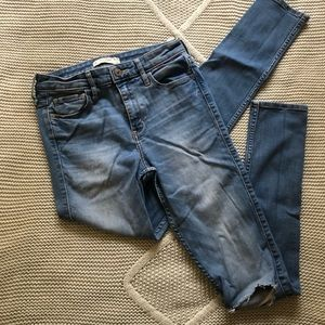 Light-washed Abercrombie Jeans